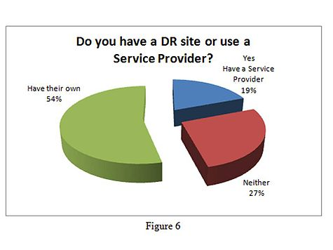 Figure 6: Do you have a DR site or use a service provider?
